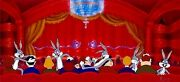 Bugs Bunny Cel Warner Brothers Scuse Me Parden Me Signed Virgil Ross Rare Cell