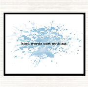 Blue White Kind Words Inspirational Quote Mouse Mat Pad