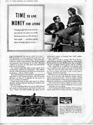 1941 Ford Tractor Ferguson Sherman System Print Ad Youth Time To Live