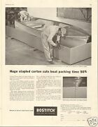 1957 Bostitch Staples Westerly Ri Large Print Ad At Texas Lone Star Boats