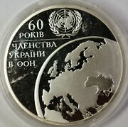2005 Ukraine 10 Hryvnias 60 Years Of United Nations Silver Proof Comm Coin