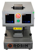 2 Ton Electric Heat Press By Rosin Industries - Auto Pneumatic X5 3 X 3 Plate