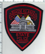 State Police Rhode Island 2nd Issue Wide Border Shoulder Patch