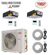 Ymgi 36000 Btu Dual Zone Ductless Mini Split Air Conditioner With Heat Pump 21 S