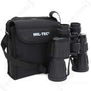7x50 Rubber Coated Binoculars And Bag - Army Pocket Military Zoom Outdoors New