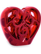 Lalique Crystal With Elton John Music Is Love - Music Is Love Heart - Red