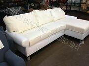 Pottery Barn Pb Basic Loveseat Chaise Left Sofa Couch Sectional No Slipcover