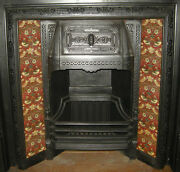 Arts And Crafts William Morris Strawberry Thief Red Fireplace Tiles Set