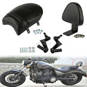 Rear Passenger Seat And Backrest Sissy Pad And Foot Pegs For Victory High-ball Vegas