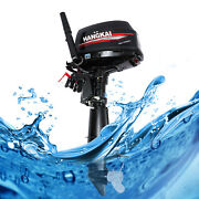 Outboard Motor 2 Stroke 6hp Boat Engine Fishing Water Cooling System Hangkai Usa