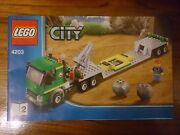 Used Lego City 4203 Excavator Transporter Book 2 Only Instruction Manual Only