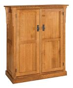 Amish Arts And Crafts Craftsman Kitchen Pantry Storage Cabinet Solid Wood Rollout