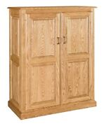 Amish Traditional Kitchen Pantry Storage Cupboard Solid Wood Rollout Shelves