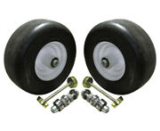 2pk Front Solid Tire Assembly Puncture Proof No Flat 13x5x6 For Lazer Z