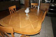Thomasville Burled Ash Dining Table From The Bogart Luxe Collection Rare