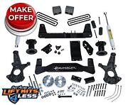 Superlift K161 6.5 Lift Kit W/ Rear Shocks Control Arms For 2014-2018 Gm 1500