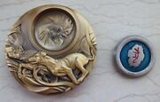 China 2018 Gold Plated Brass And Paktong With Enamel Medals - Lunar Year Of Dog