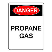 Danger Propane Gas Sign, Aluminum Metal Health And Safety Warning Uv Signs