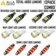 Led Interior Map Dome Light Bulb License Plate Cargo Reverse White For Ford F150