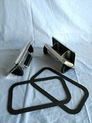 1 Pair Aluminum Popup Roof Vent Horse Trailer Air Flow Low Profile And Gaskets