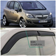 Oe12111 Window Visors Sun Guard Vent Wide Deflectors For Opel Meriva B 2011-2018