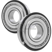 2x 6203-zz Ball Bearing 17mm X 40mm X 12mm Double Shielded Seal W/ Snap Ring
