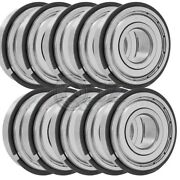 10x 6203-zz Ball Bearing 17mm X 40mm X 12mm Double Shielded Seal W/ Snap Ring
