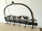 Rare Antique French Butcher Meat Hook Hanging Cast Iron Handforged Kitchen Tool