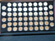 1999-2009 24 Karat Gold Layered Pandd State Quarters 112 Coins In Wooden Chest