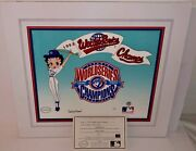 Betty Boop Toronto Blue Jays Cel 1993 World Series Champs Rare Number 1 Signed