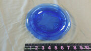 Cobalt Blue Glass Vintage Dish With A Scalloped Edge And Star Pattern Butter Nut