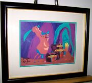 Warner Brothers Cel 2 Times Signed Hassans Chopping Spree Rare Animation Cell