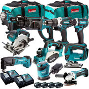 Makita 10 Piece 18v Li-ion Monster Kit With 4 X 5.0ah Batteries And Charger In Bag