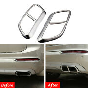 Car Rear Exhaust End Pipe Dual Muffler Tip Cover Trim For Volvo Xc90 2015-2018