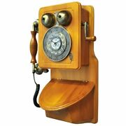 Country Kitchen Wooden Wall Phone Antique Bronze Vintage Retro Classic Gift New
