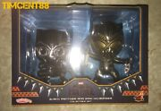 Ready Hot Toys Cosb488 Black Panther And Erik Cosbaby Set
