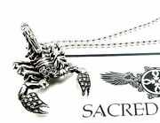 14k Gold Scorpion King Pendant W/ Black And White Diamonds By Sacred Angels