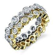 Womenand039s 14k Rose Yellow Or White Gold Diamond Stackable Eternity Wedding Band