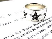 Menand039s Silver Eternity Diamond Star Ring By Sacred Angels