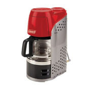 Coleman Quikpot Portable Outdoor Camping Propane 15 Minute Coffee Maker Red