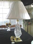 Rare Stunning Waterford Lismore Table Lampandshade 27 Base- Finial Xlnt Cond.