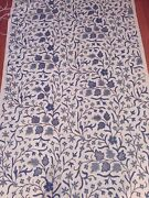 Vintage Handwoven Kashmir Crewel Fabric From India Large Roll Beautiful Fabric