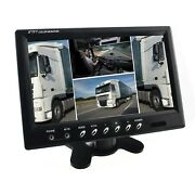 Display With 4x Display 4x Video In Universal Monitor For Rear View Cameras