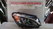 2015-2016-2017 Mercedes Benz C-class Right Side Led Headlight Used Oem