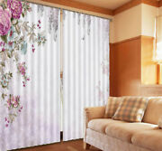 Common Peony Template 3d Curtains Blockout Photo Printing Curtains Drape Fabric