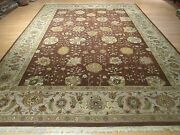 10x14 Antique Allover Design Vegetable Dye Hand-made-knotted Wool Rug 580266