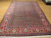 Estate Circa 1950 7x10 Intricate Allover-pattern Hand-knotted Wool Rug 582145