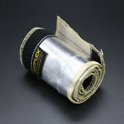2 10ft Metallic Insulated Heat Shield Sleeve Wire Hose Cover Wrap Loom Tube