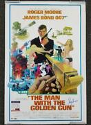 Roger Moore Signed The Man With The Golden Gun 24x36 Movie Poster Psa/dna Coa