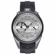 New Mens Bomberg Menand039s Ns39chtt.0070.2 1968 39mm Chronograph Silver Dial Watch